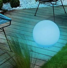 Blaue Solarlampe