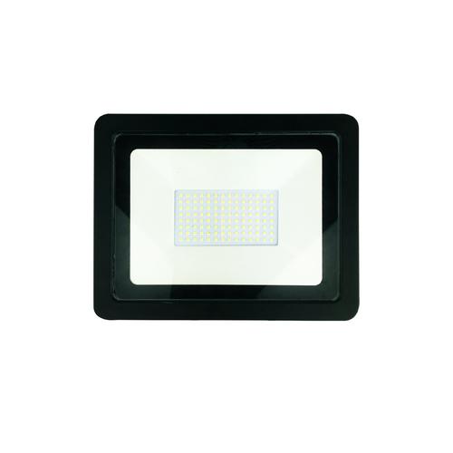 Schwarzer 100W LED Flutlicht. Farbe: 4500K IP65