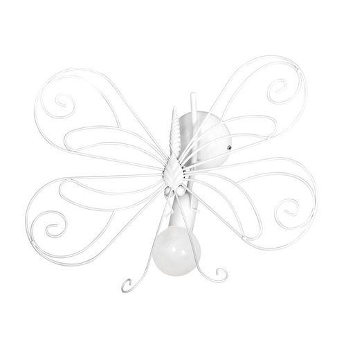 Weißer Kinikiet Schmetterling 2 Weiß 1x E27