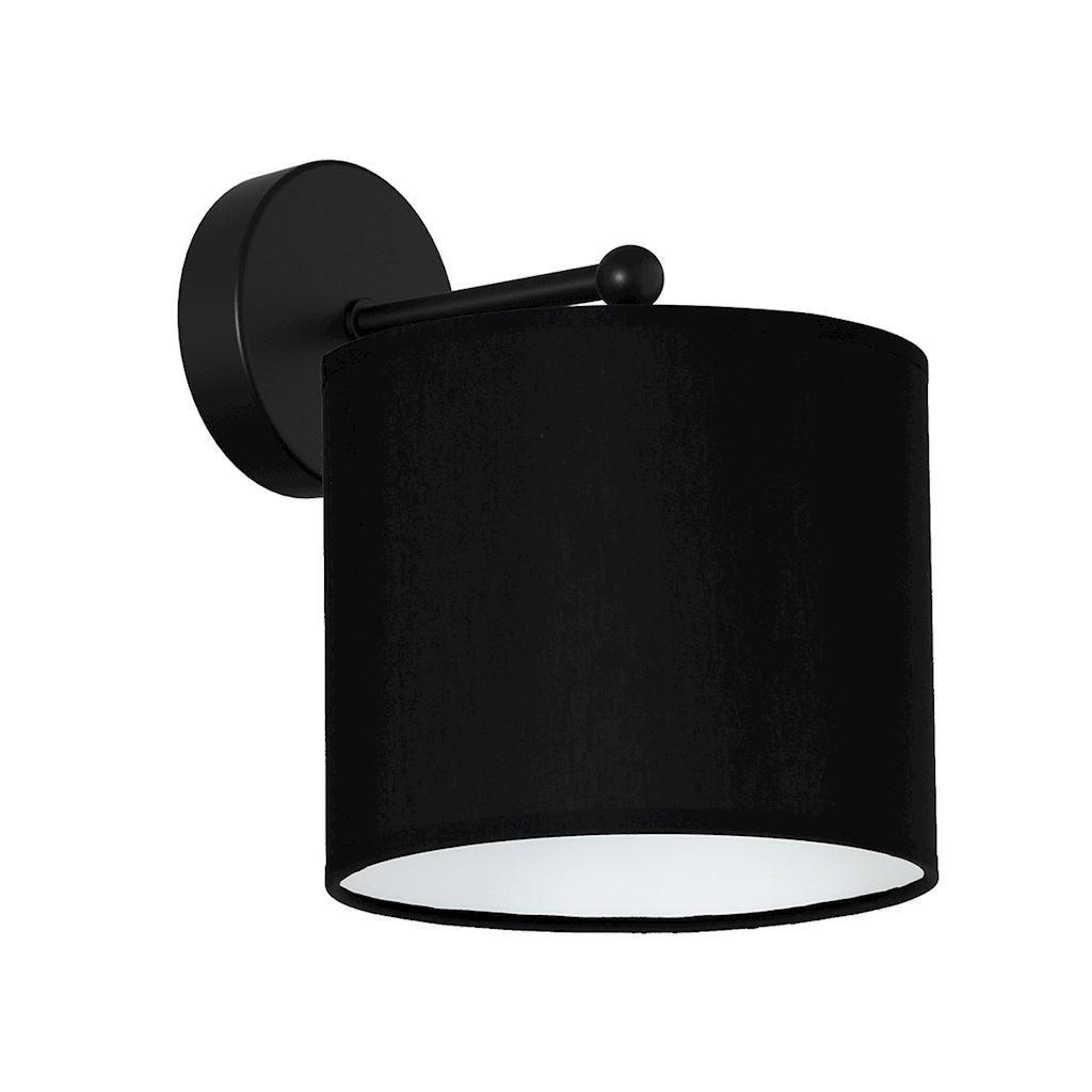 Schwarze Wandleuchte Bari Black 1x E27