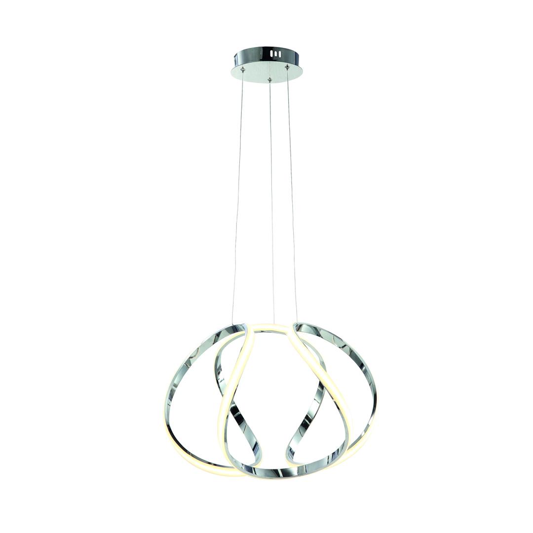 Chrom Pendelleuchte Globus 50 W LED