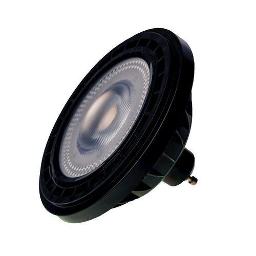 Lampe Ar111 12 W Gu10 3000 K / Schwarz