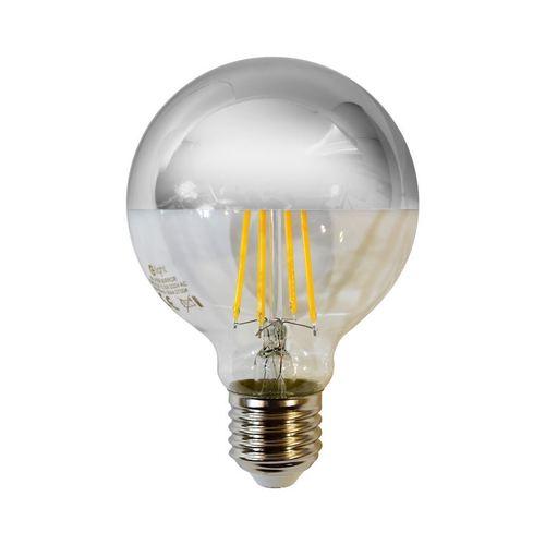 Glühlampe LED 5,5 W G80 E27 Silber
