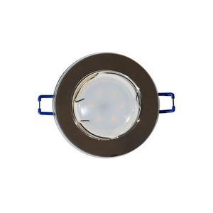 Silber Deckenauge Set Glas Rund Silber + 1,5 W Glühbirne Gu10 Sockel small 0