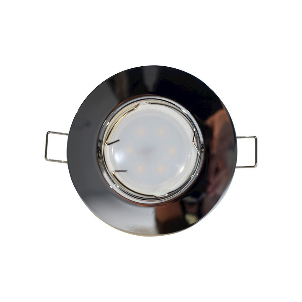 Chrom Deckenauge Set Cast Motion + 1,5 W Gu10 Lampenfassung