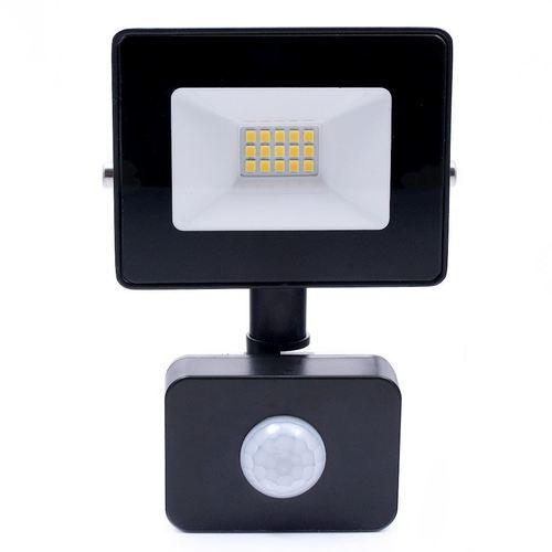 Schwarzer LED-Scheinwerfer 10 W. Farbe: 4500 K. Pir IP65