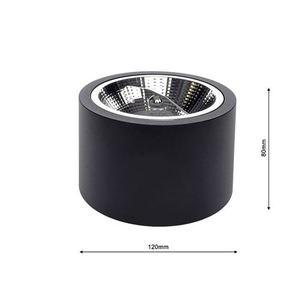 Schwarz Oberflächenmontage Redondo Schwarz 1x Ar111 Gu10 small 5