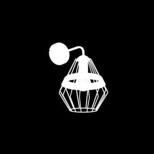 Schwarze Wandleuchte Cliff Black 1x E27 small 2