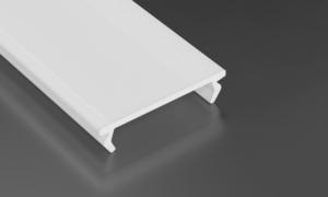 Aluminiumprofil, Silber Typ K, 2 m + Opaldiffusor, Befestigungsfeder small 2