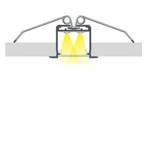 Aluminiumprofil, Silber Typ K, 2 m + Opaldiffusor, Befestigungsfeder small 5