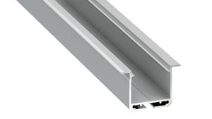 Aluminiumprofil, Silber Typ K, 2 m + Opaldiffusor, Befestigungsfeder small 0