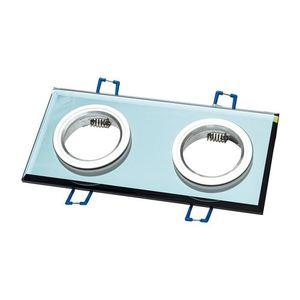 Schwarze Öse Decke Glas Quadrat 2x Gu10 Farbe: Schwarz small 0