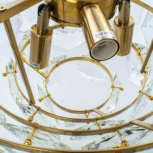 Grace Gold Kristall Kronleuchter 6x E14 small 2