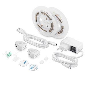 Doppelter LED-Streifen mit Bewegungssensor zur Beleuchtung des Bettes 2x120cm IP44 small 0