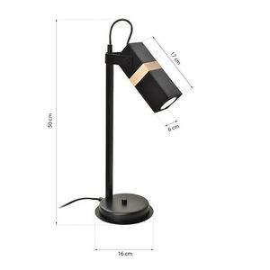 Schwarze Nachttischlampe Vidar Black 1x Gu10 small 6