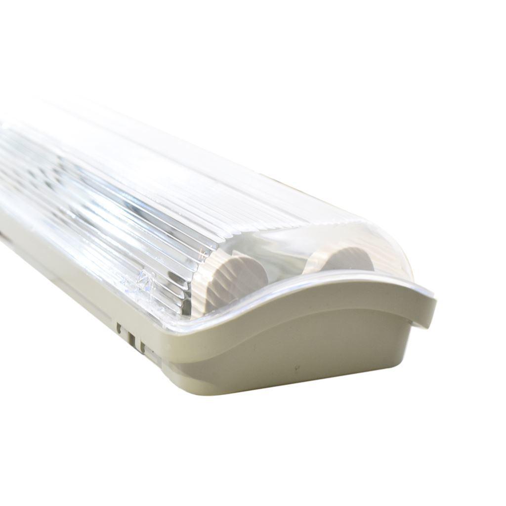Graue hermetische Leuchte 2x120cm + LED-Leuchtstofflampe 18 W 120 cm 6000 K IP65