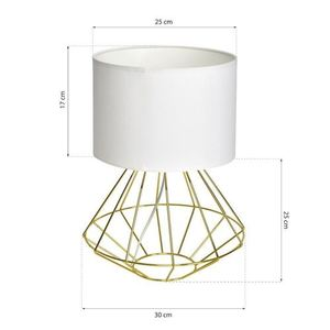 Weiße Stehlampe Lupo Wite / Gold 1x E27 small 6