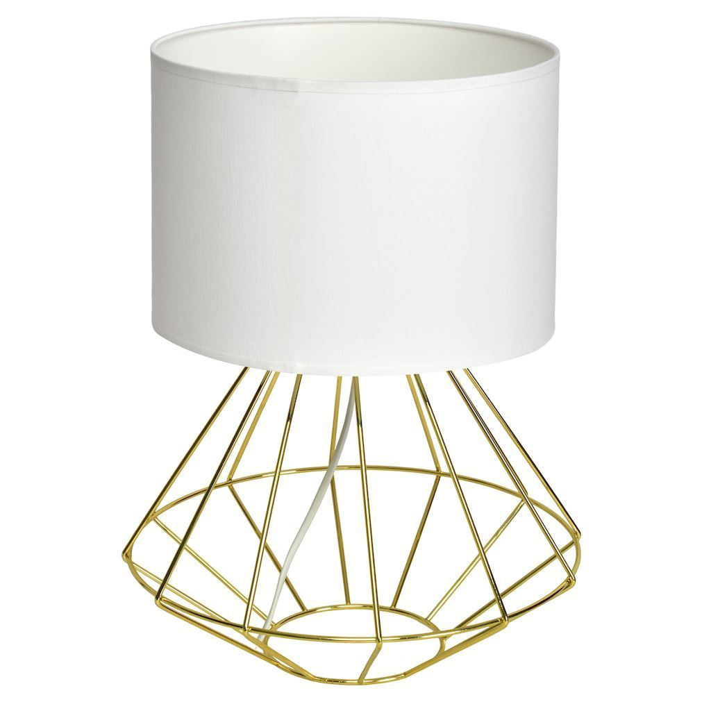 Weiße Stehlampe Lupo Wite / Gold 1x E27