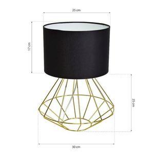 Schwarze Stehlampe Lupo Schwarz / Gold 1x E27 small 6