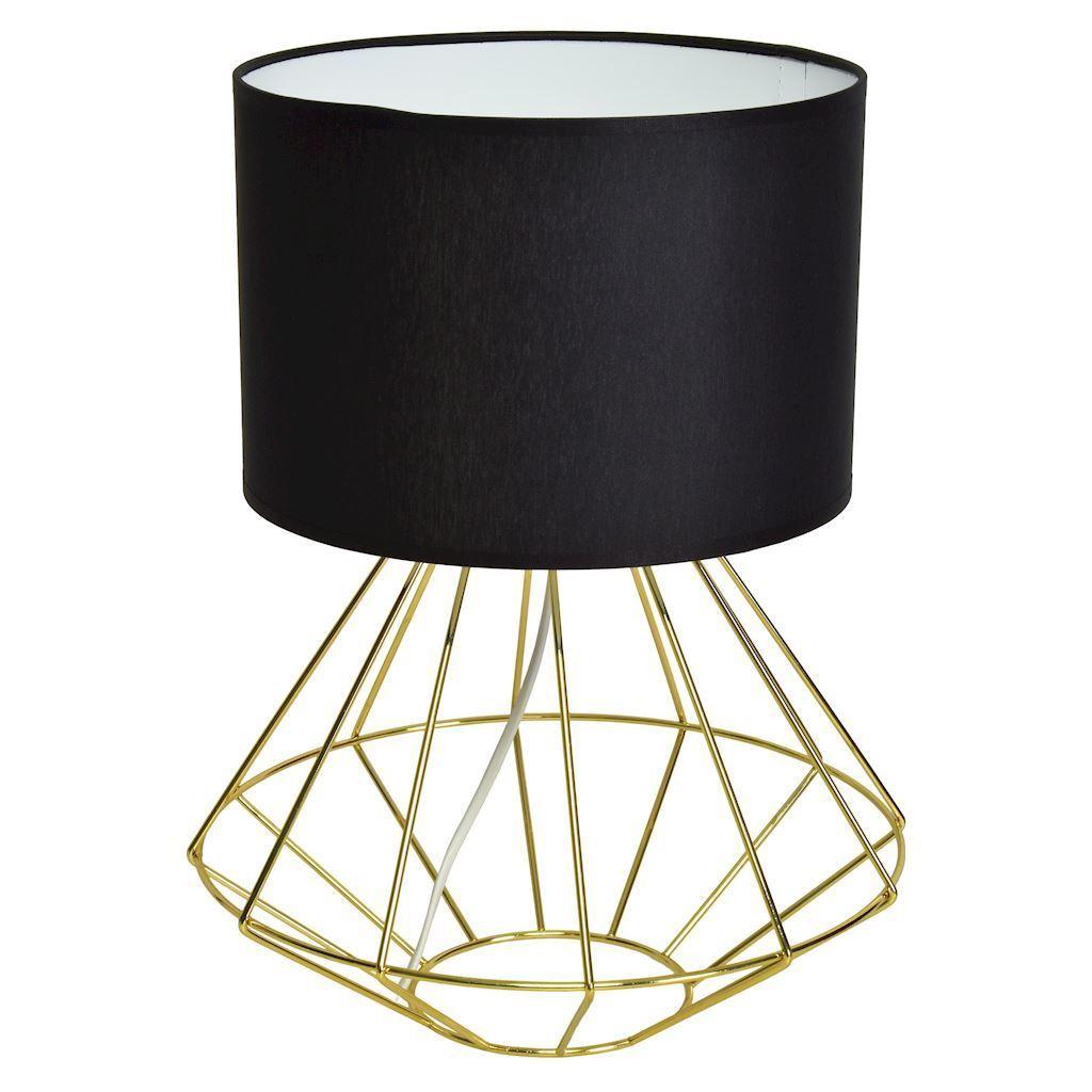 Schwarze Stehlampe Lupo Schwarz / Gold 1x E27