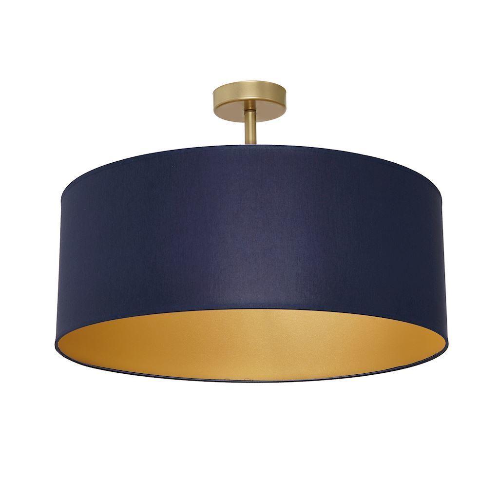 Deckenleuchte Ben Navy Blue / Gold 3x E27
