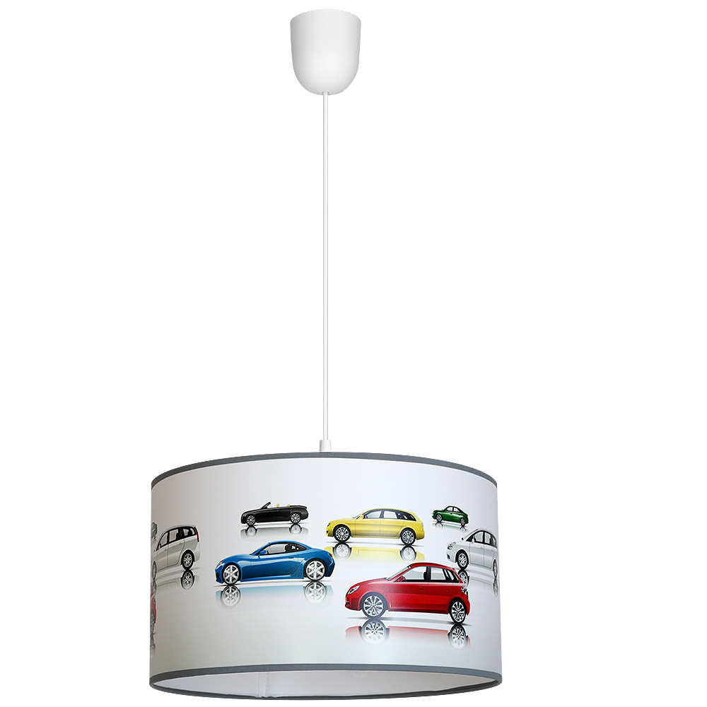 1x E27 Multicolor Cars Hängelampe