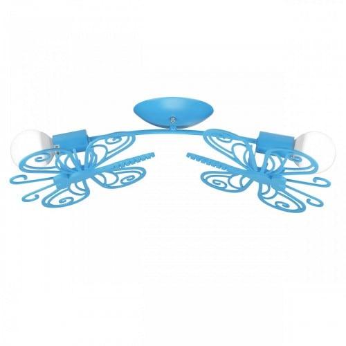 Butterfly 2 decke blau