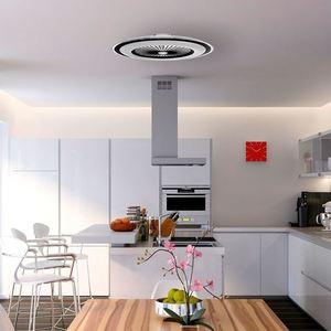 Weiße Zonda 60 WZ LED Deckenleuchte mit Ventilator small 12