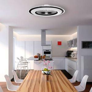 Weiße Zonda 60 WZ LED Deckenleuchte mit Ventilator small 5