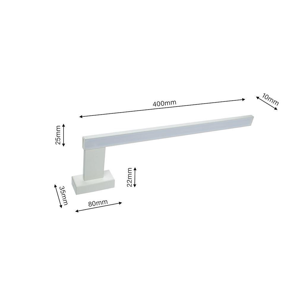 White Shine White 11 W LED Wandleuchte IP44