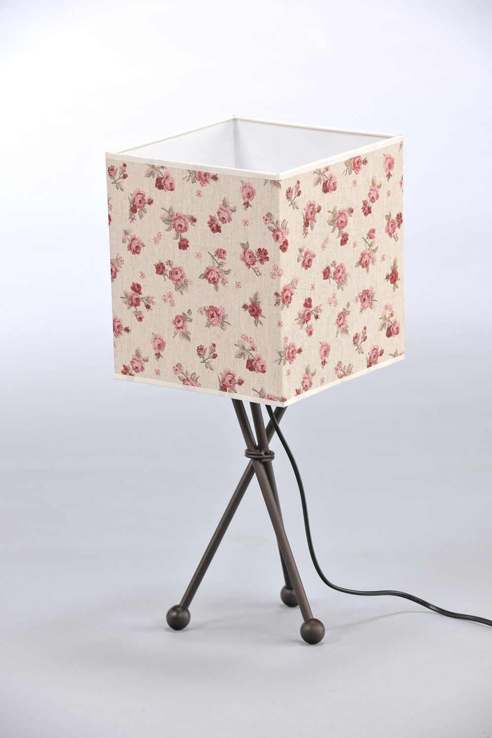 Nachtlampe in Roses Shabby Chic Cube
