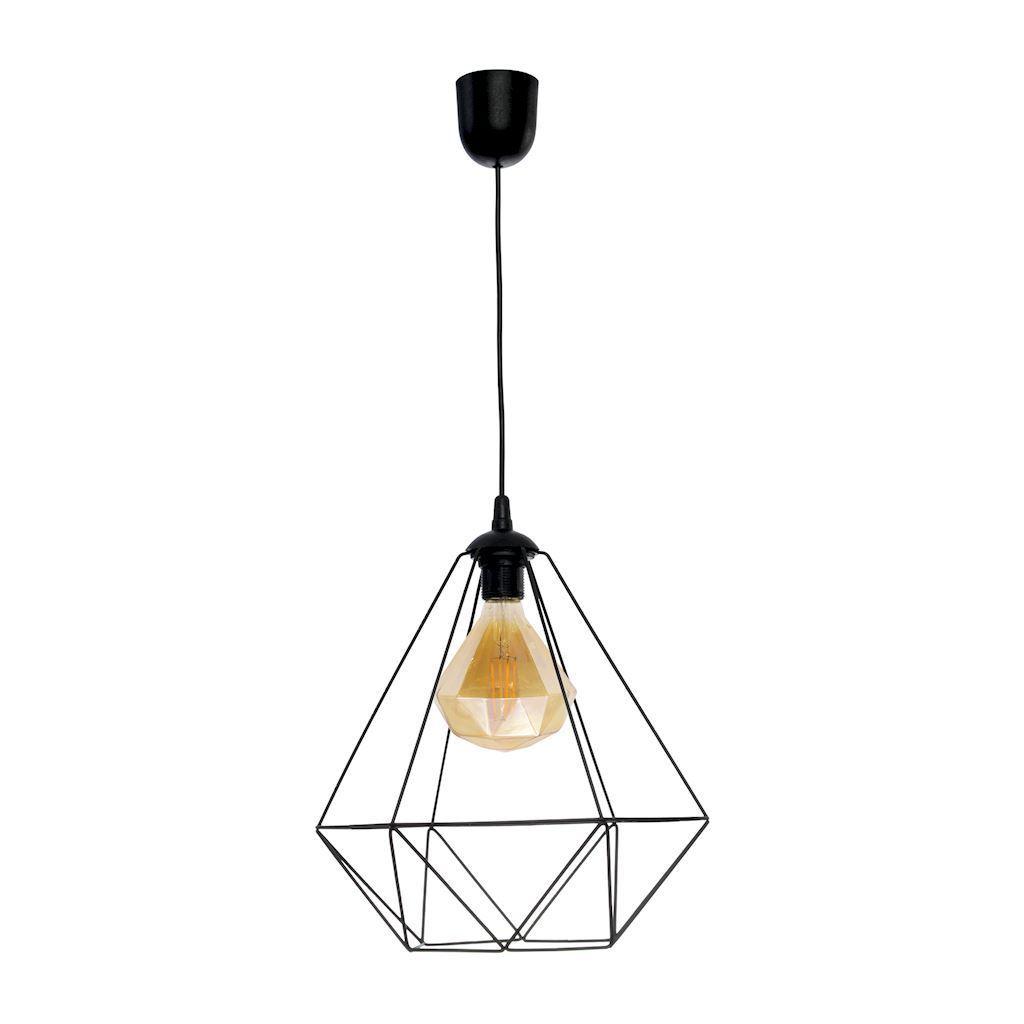 Black Alambre Black Pendelleuchte 1x E27 4W Glühlampe enthalten