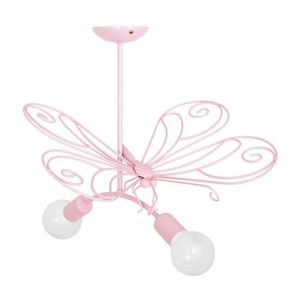 Pink Butterfly Chandelier 2 Pink 2x E27 small 0
