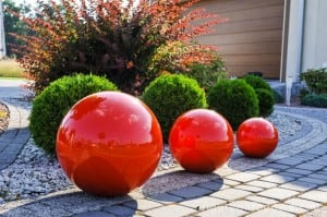 Dekorativer Gartenball Farbwahl 50 cm small 2