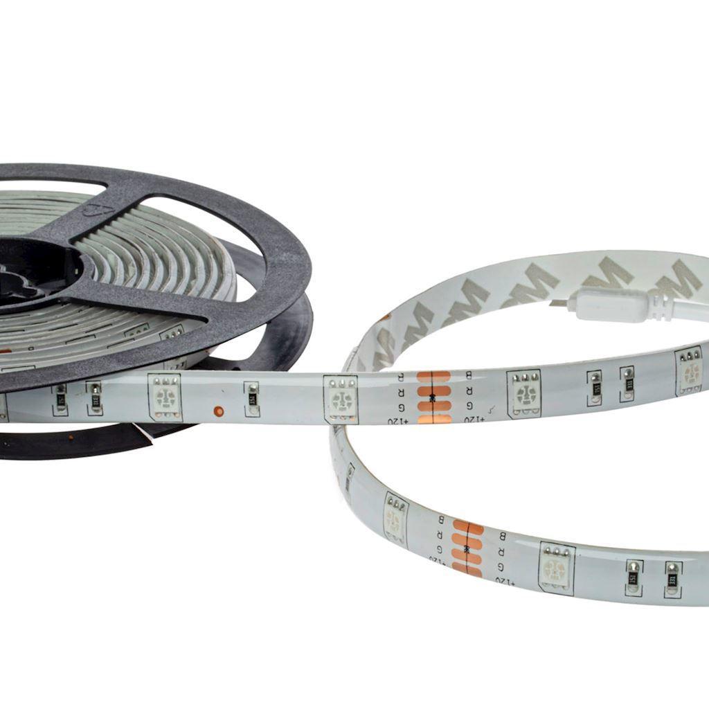LED RGB 5M Set mit IP65 Controller und Fernbedienung