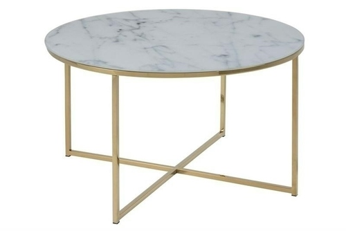 ACTONA TABLE ALISMA 80 - Glas, goldene Beine