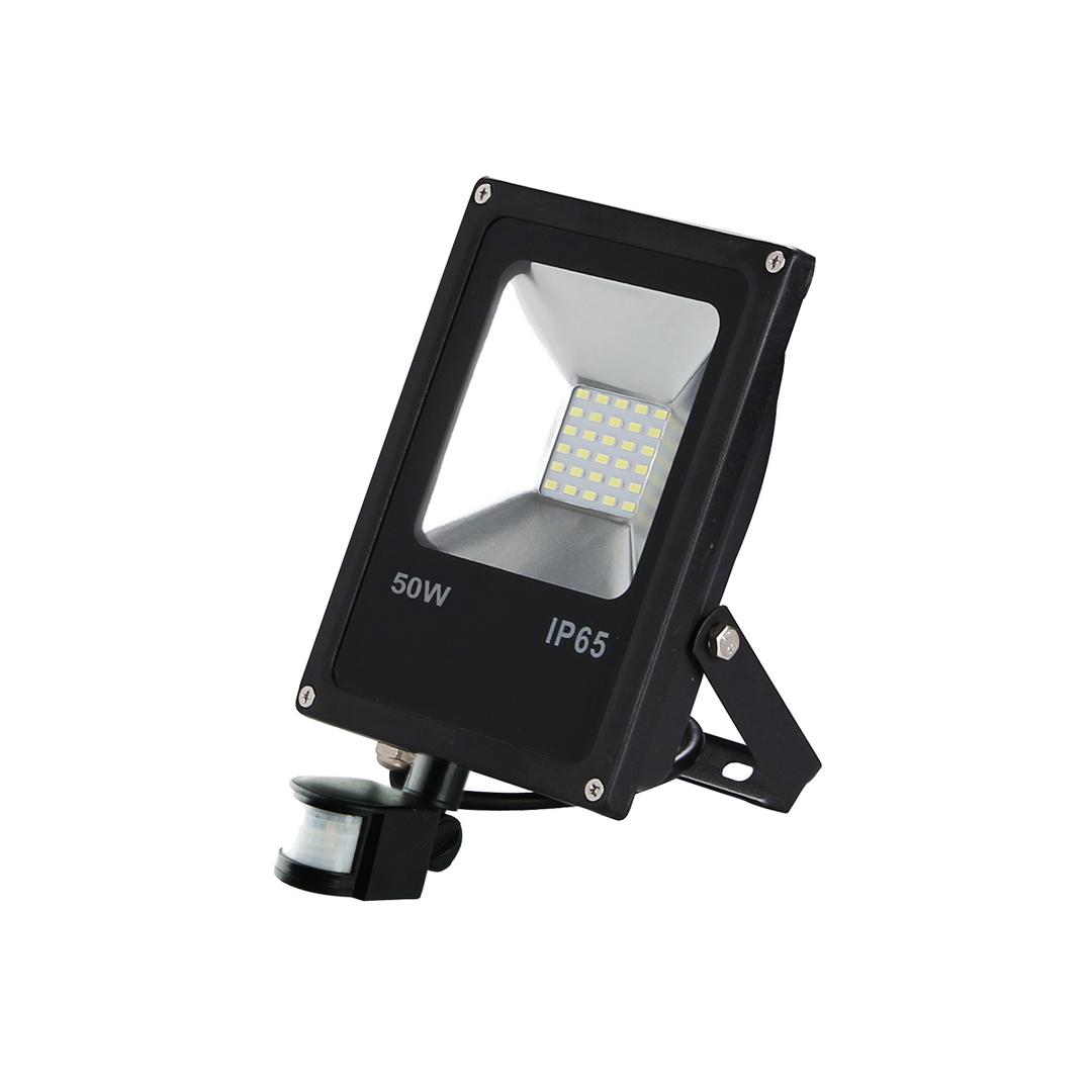 Schwarzer LED-Scheinwerfer 50 W. Farbe: 6000 K. Pir
