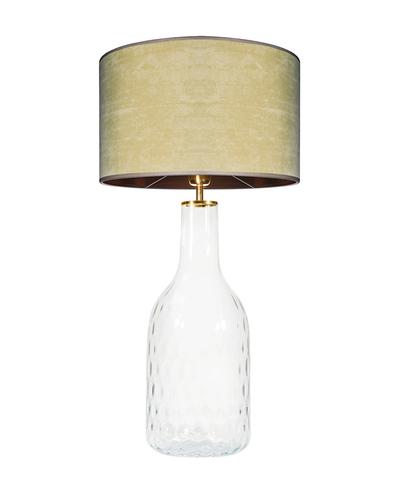 Glastischlampe Famlight Alor Transparent oliv / braun E27 60W handgefertigt