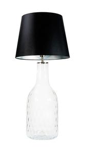 Handgefertigte Lampe Famlight Alor Transparente schwarz / silberne E27 60W transparente Flasche small 0