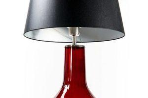 Handgefertigte Lampe Famlight Alor Transparente schwarz / silberne E27 60W transparente Flasche small 1