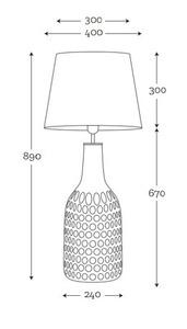 Handgefertigte Lampe Famlight Alor Transparente schwarz / silberne E27 60W transparente Flasche small 4