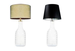 Handgefertigte Lampe Famlight Alor Transparente schwarz / silberne E27 60W transparente Flasche small 3