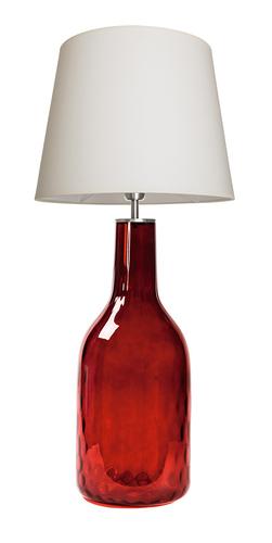 Glaslampe Famlight Alor Ruby creme / weiß E27 60W handgemacht