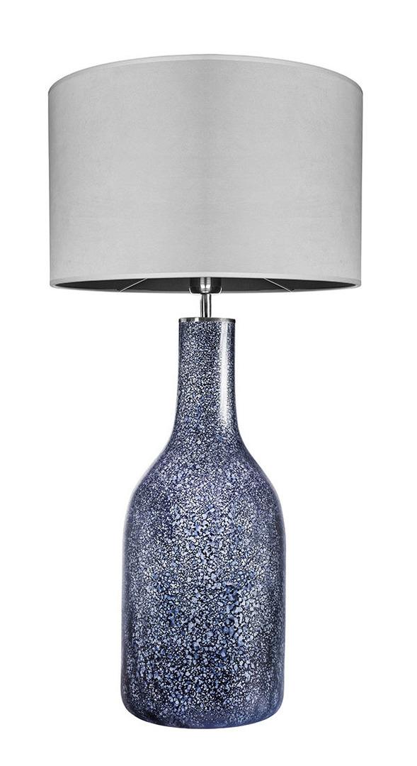 Dekorative Tischlampe Famlight Alor Black Sky Mattgrau E27 60W handgefertigt