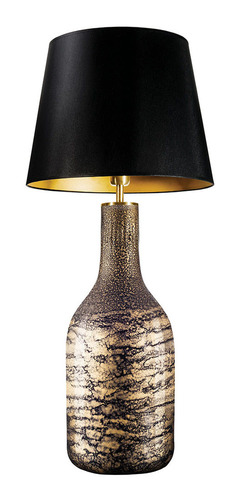 Tischleuchte mit Lampenschirm Famlight Alor schwarz & Gold Shiny E27 60W