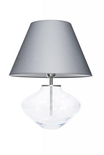 Kommode Lampe Bali Transparent Grau / Weiß Famlight E27 60W handgefertigt