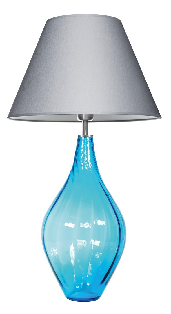 Moderne Tischlampe Borneo Aquamarine Famlight E27 60W handgefertigt