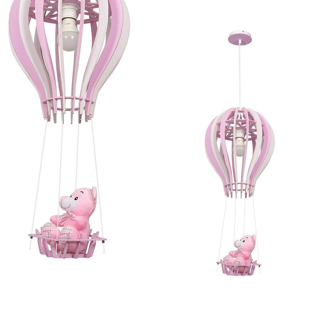 Hängelampe Ballon Pink 1x E27 60 W.