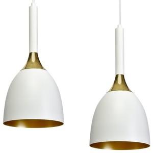 Hängelampe Clark White / Gold 3x E27 small 4