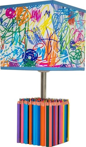 Tischlampe für Kinder Bunte Buntstifte